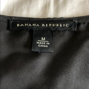 Banana Republic Tops - Banana republic black lace front tank